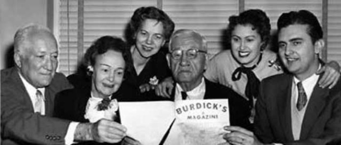 Mom over Congressman Burdick's right shoulder
