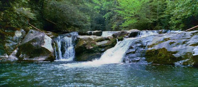 Falls on Slickrock Creek