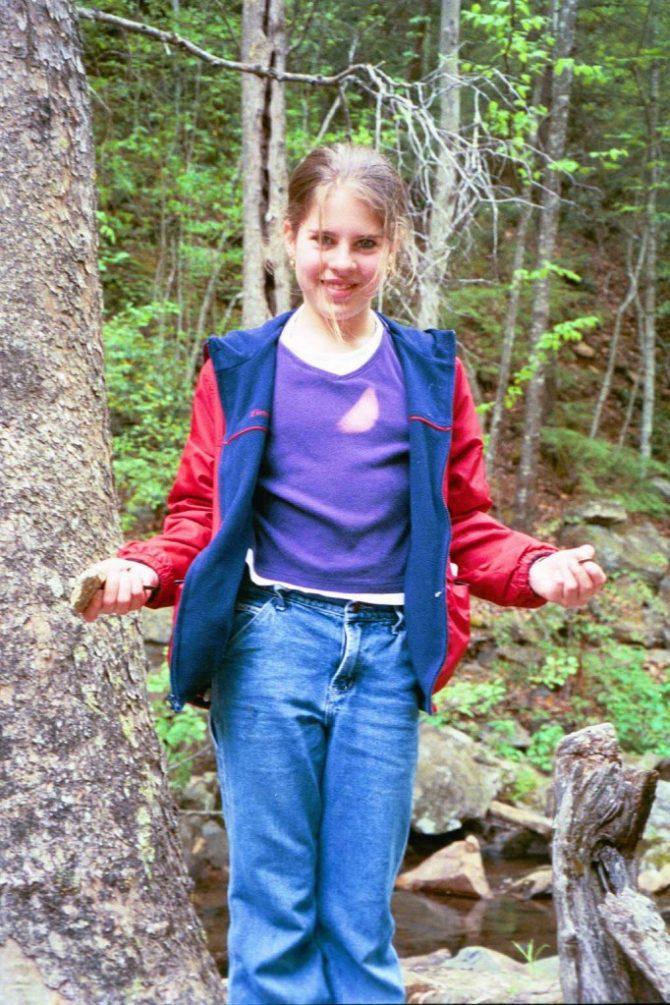 Krista at the falls
