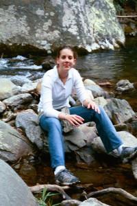Laura at the falls