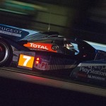 Peugeot No. 7 charges into the night