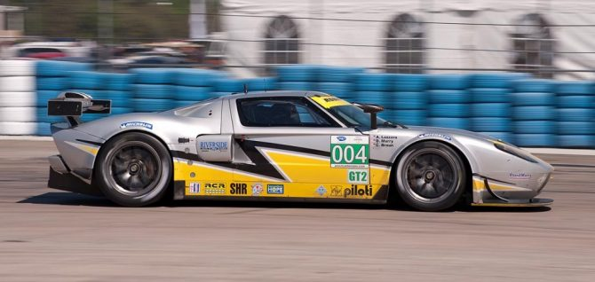 Robertson Racing Doran Ford GT car 004 exits turn 17a