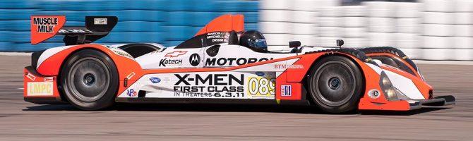 Intersport Racing Oreca FLM 09 car 089 exits turn 17a