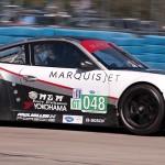 Paul Miller racing Porsche 997 GT3 exits 17a