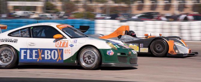 Oreca FLM 09 car 005 passes at 17a