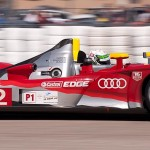 Audi Sport R15, car 2 exits turn 17a
