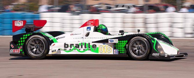 Performance Tech Oreca, car 018 exits turn 17a
