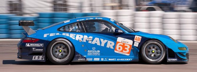 Proton Competition Porsche 997 car 63 exits turn 17a