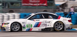 BMW Racing's BMW M3 car 56 transits turn 5