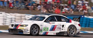BMW Motorsport's BMW M3, car 56 in turn 5