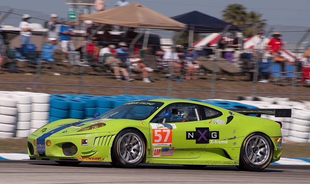 Krohn Racing Ferrari 430 GT2, car 57 in turn 5