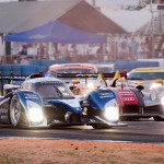 Peugeot Sport Total car 8 sweeps by Audi Sport car 2 in turn 5