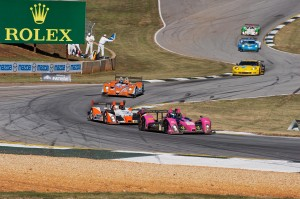 Nice field of cars cascades through turn 4 and the Esses