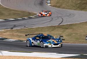 Lotus Evora, car 65, enters turn 5