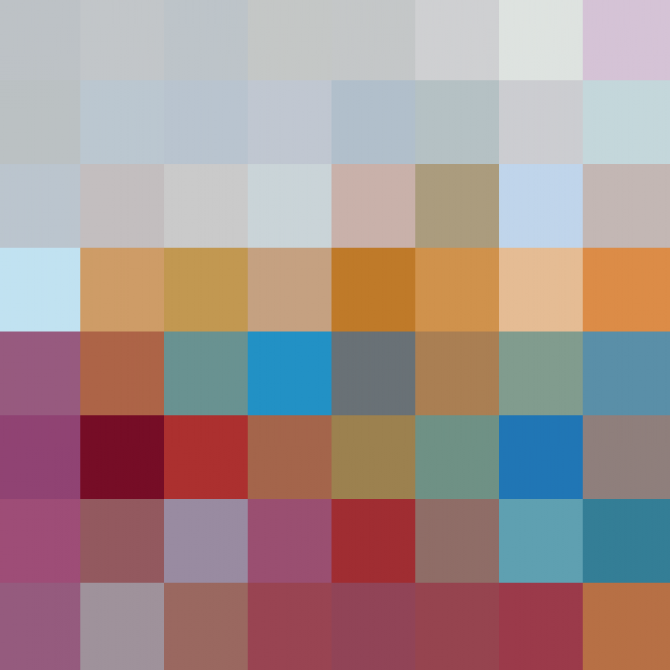 Original 8x8 Color Image