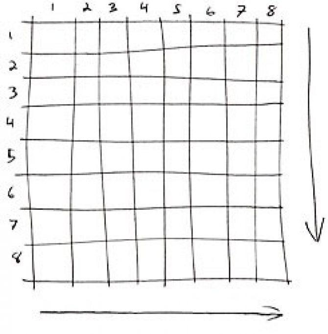 8x8 pixel grid